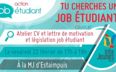 Action Job Étudiant à la MJ d'Estaimpuis – 22/02/2019
