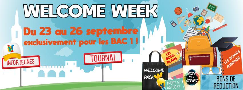 WELCOME WEEK – BAC 1 Tournai – 23 au 26 septembre 2019