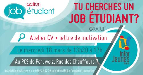 Atelier CV et lettre de motivation – Péruwelz