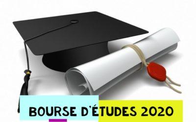 Aide à l'introduction d'une bourse d'études 2020